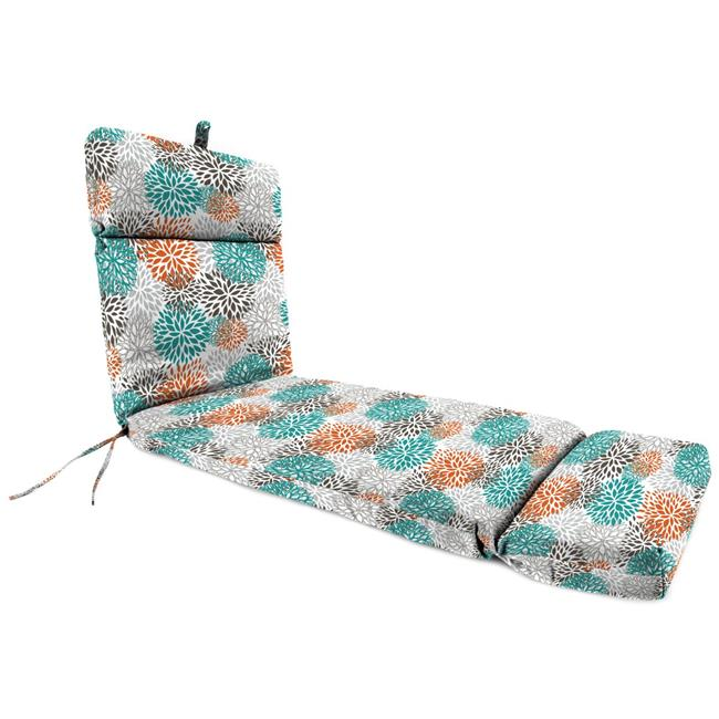 jordan 9552pk1 4325d 22 x 72 x 4 in outdoor chaise cushion in blooms pacific