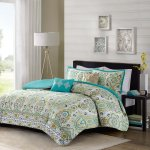 Beautiful Tropical Blue Teal Yellow Ocean Beach Bohemian Duvet Set Pillows New