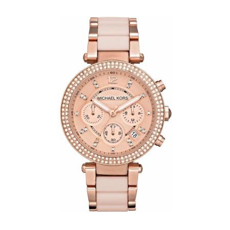Michael Kors Women's Parker Rose Gold-Tone Stainless Steel Bracelet Watch
