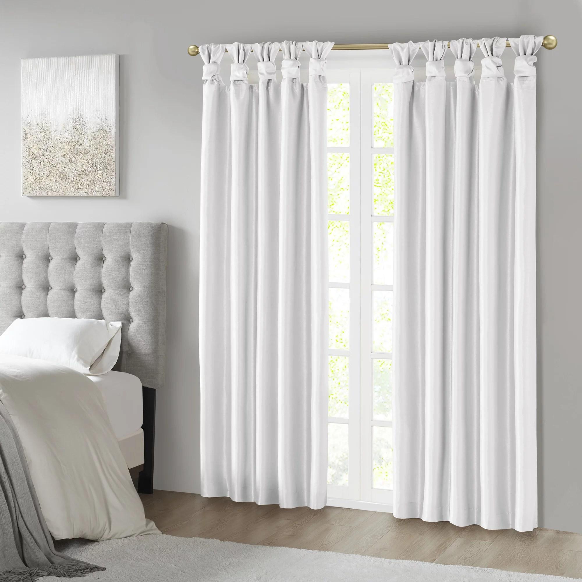 home essence lillian twist tab total blackout window curtain