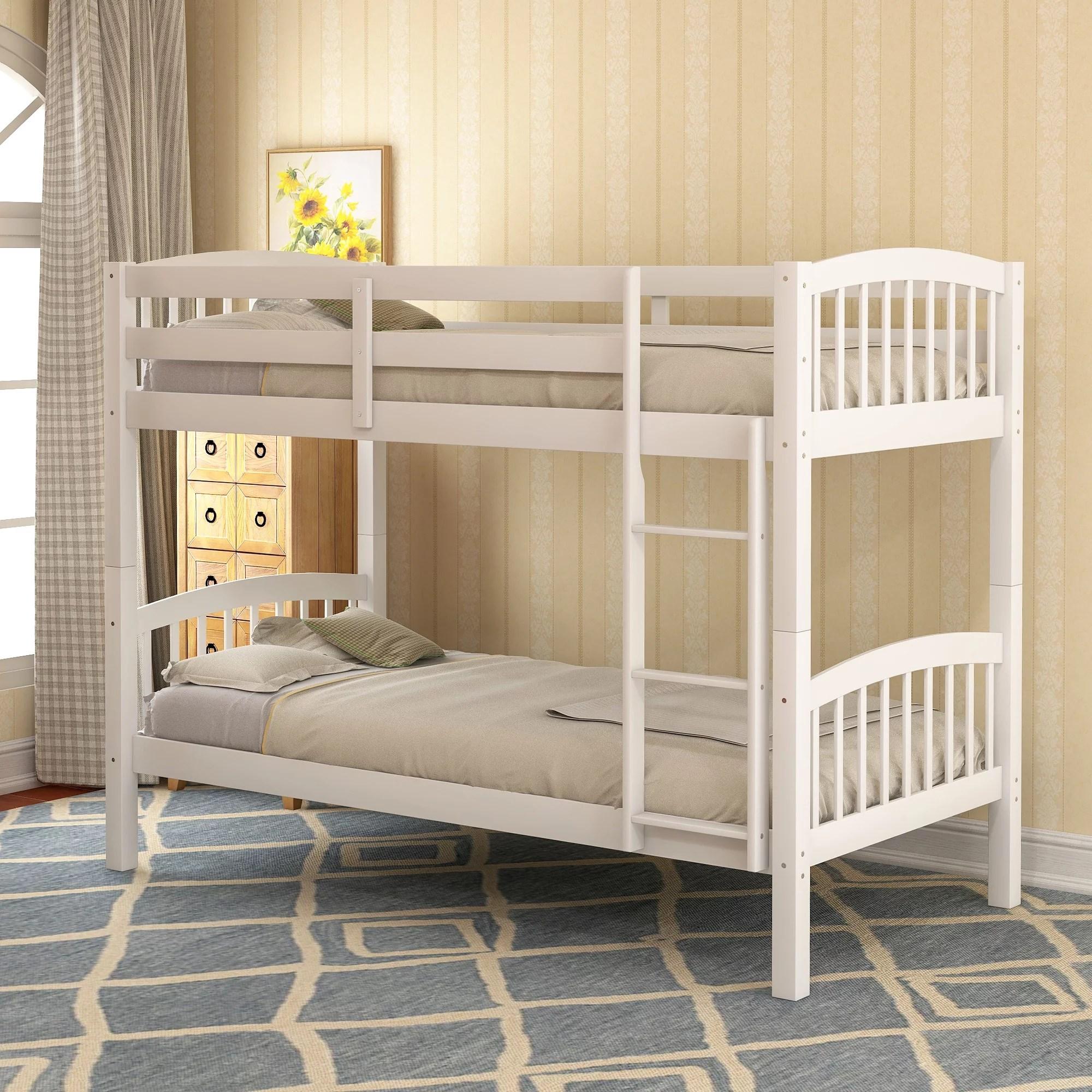 clearance bunk beds twin over twin urhomepro wood kids on walmart bedroom furniture clearance id=57038