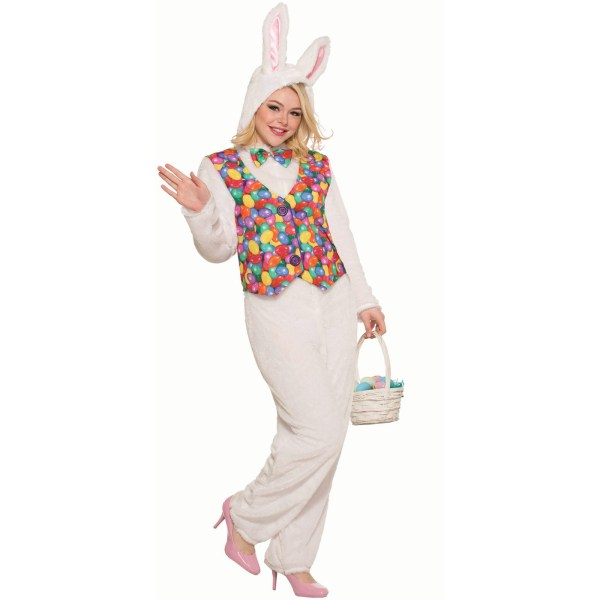 Easter Bunny Adult Jumpsuit with Vest Costume Walmartcom