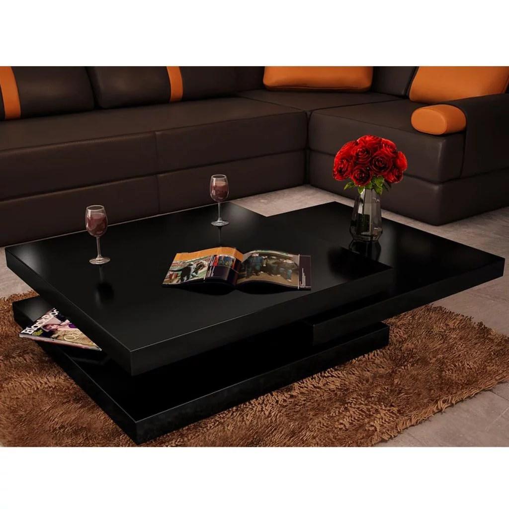 walfront coffee table 3 tiers high gloss black