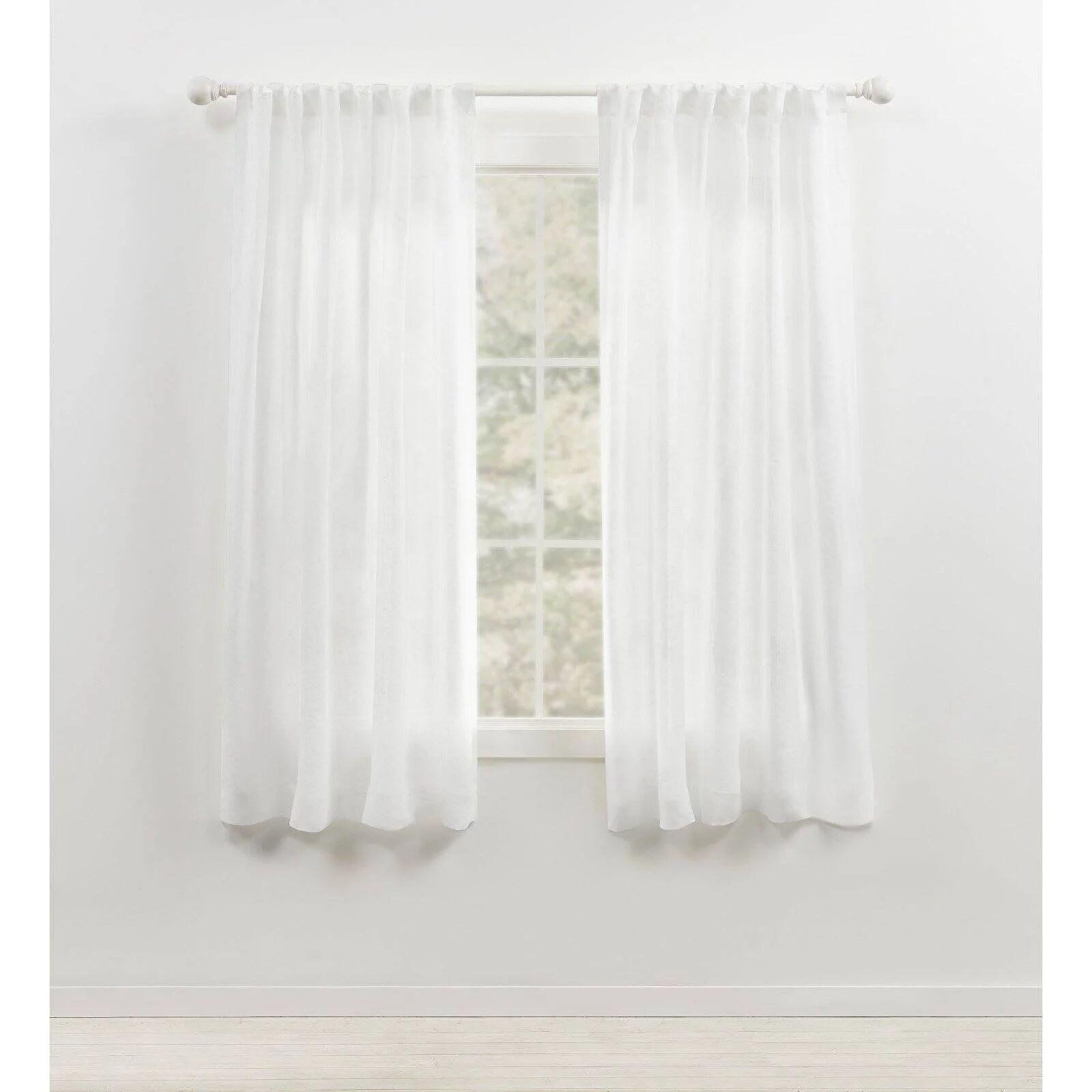 lauren ralph lauren engel solid 100 linen sheer rod pocket curtain panel