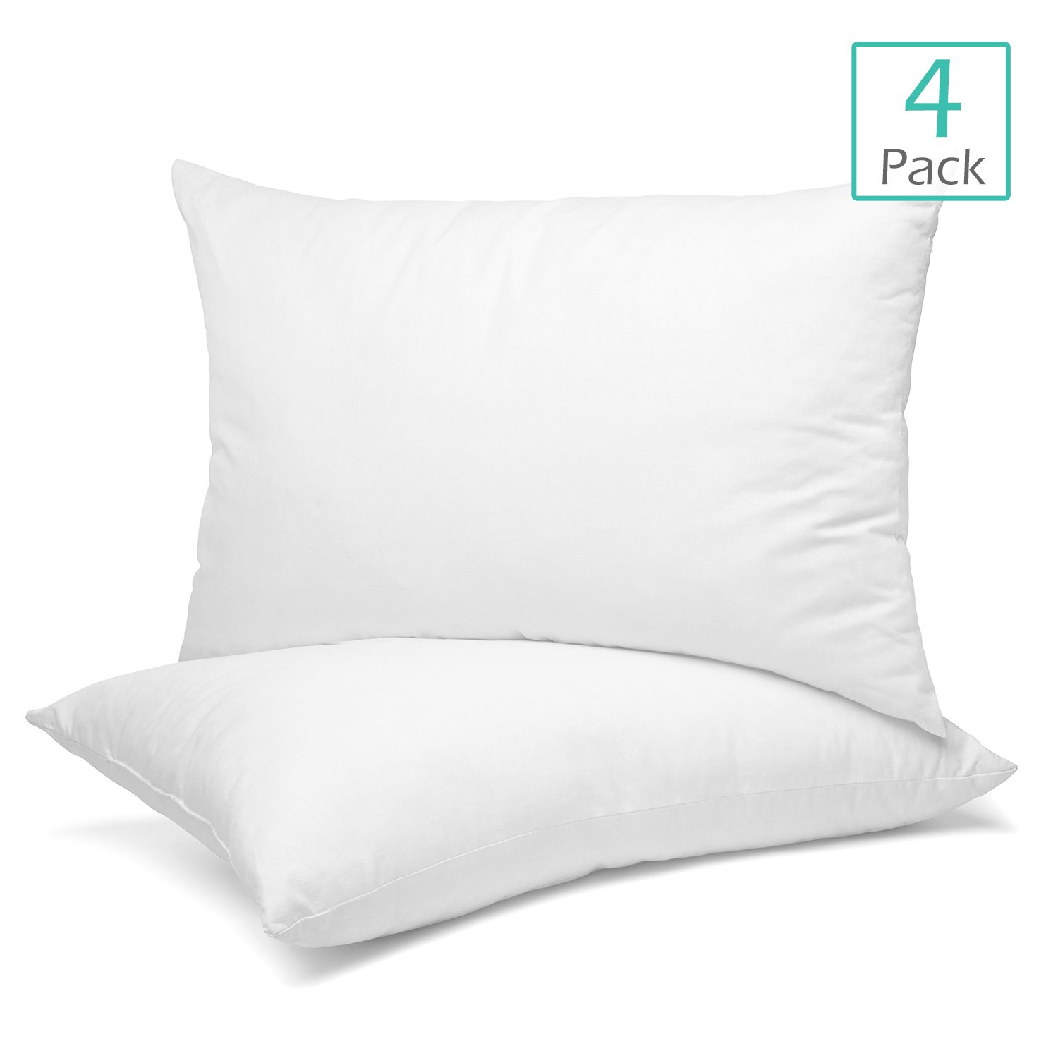 toddler pillow for sleeping 13 x 18 inches machine washable small baby pillow soft 100 cotton cover hypoallergenic kids pillows pack of 4