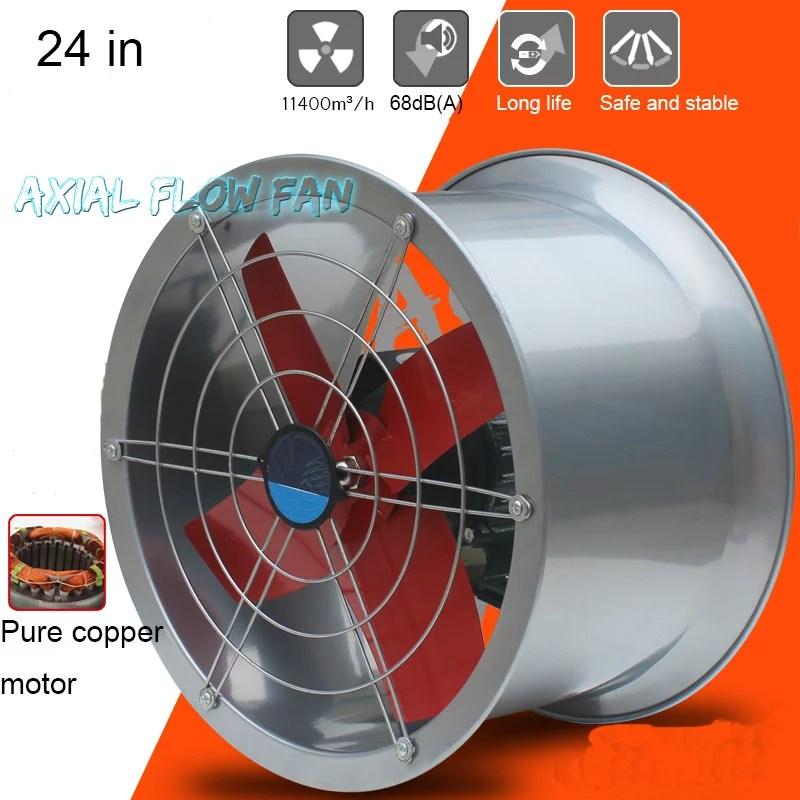 intsupermai 24 explosion proof exhaust fan tube axial duct fan cylinder pipe fan wall mounted ventilator draft fan inatke fan for dedusting and