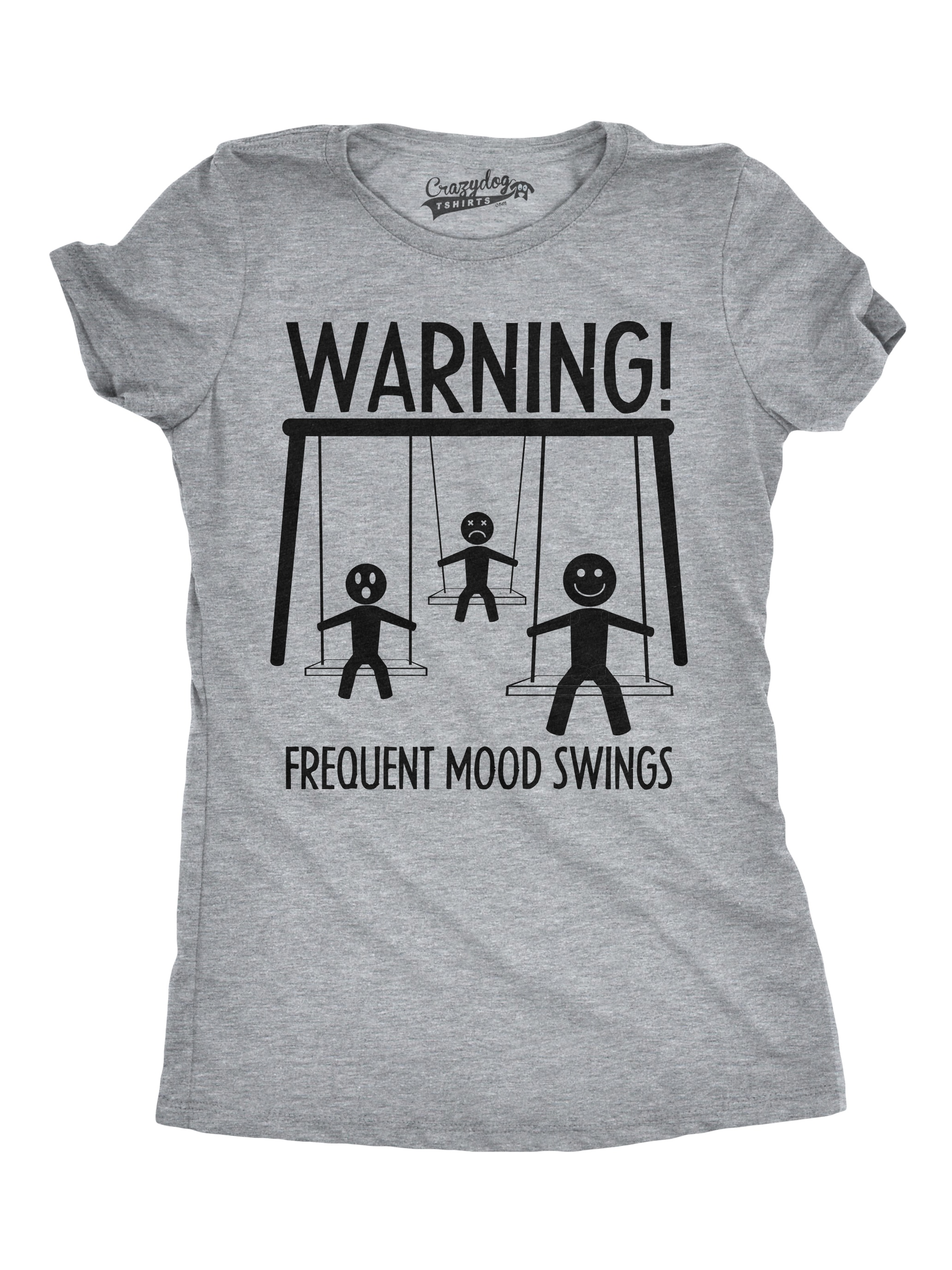 Womens Warning Frequent Mood Swings Funny Stick Figure