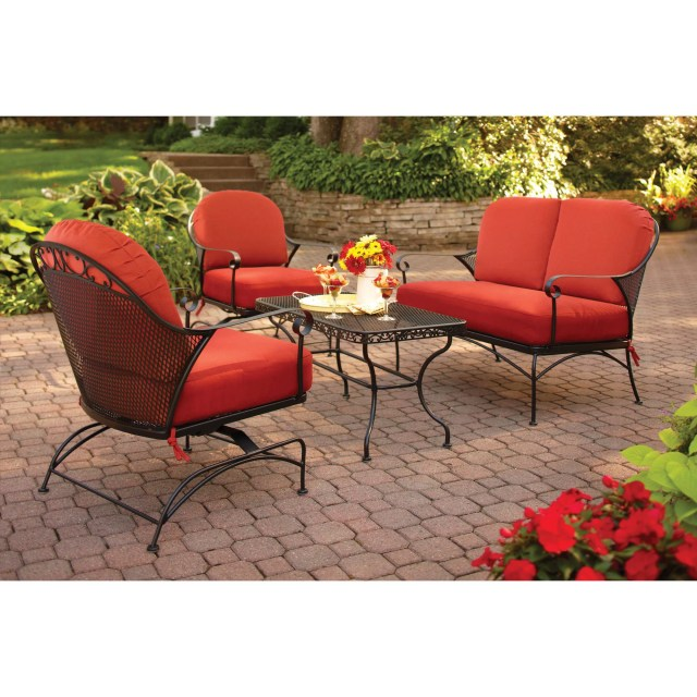 better homes and gardens clayton court 4-piece patio conversation