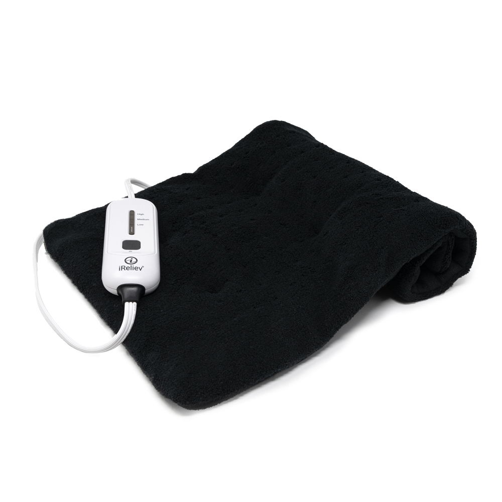 ireliev weighted moist dry heating pad for pain relief and cramps 3 electric heat settings