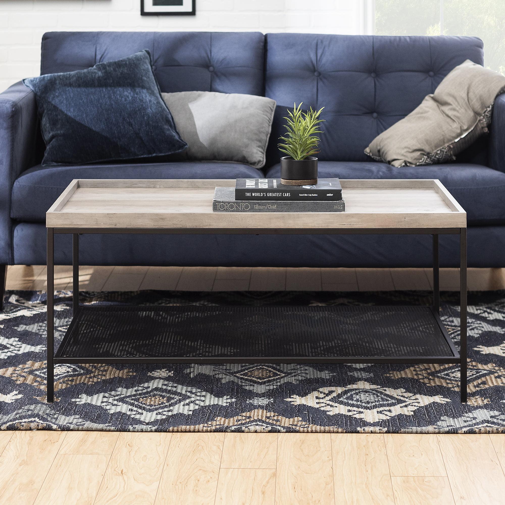 frankie tray top rustic oak coffee table by river street designs walmart com walmart com