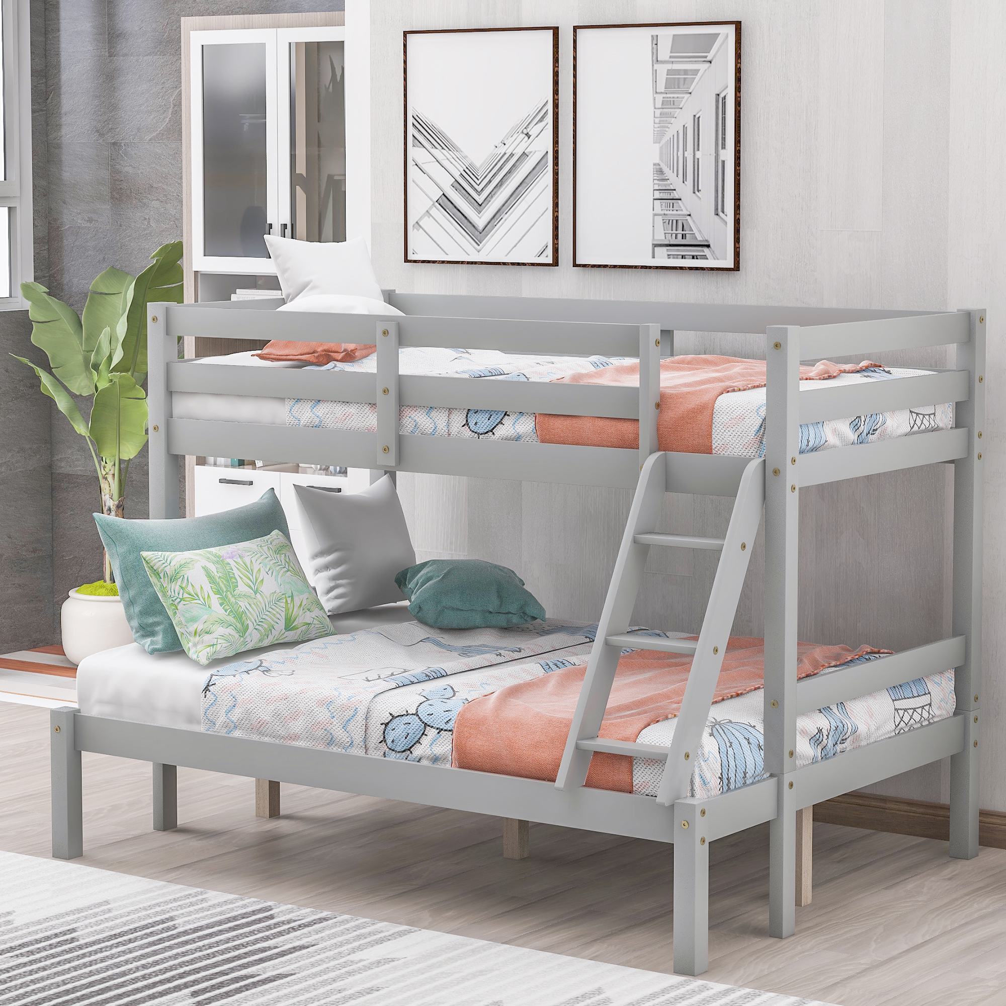clearance bunk beds for kids urhomepro wood twin over on walmart bedroom furniture clearance id=70752