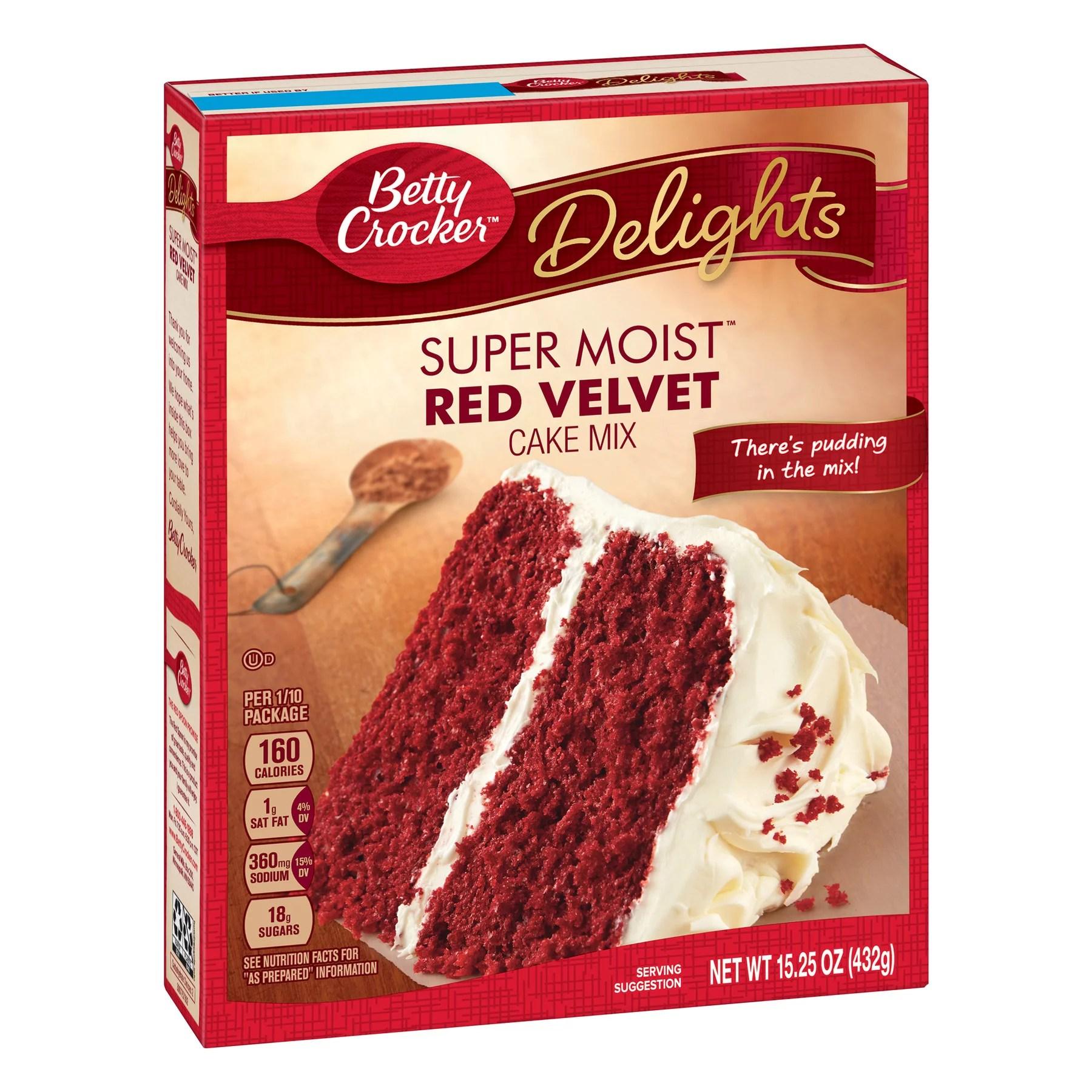Betty Crocker Super Moist Red Velvet Cake Mix 15 25 Oz