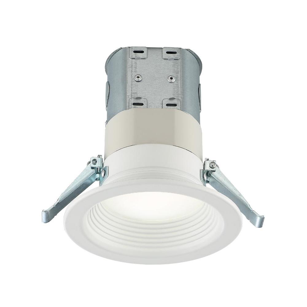 commercial electric easy up 4 in deep baffle color selectable canless led recessed kit new open box