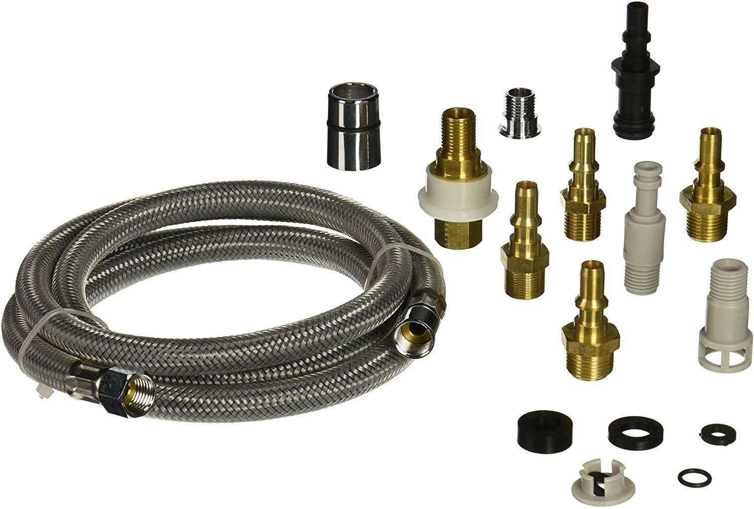 danco kitchen faucet pull out spray hose replacement kit for pullout sprayer heads quick connect adapters 10 piece adapter kit 57 inch nylon