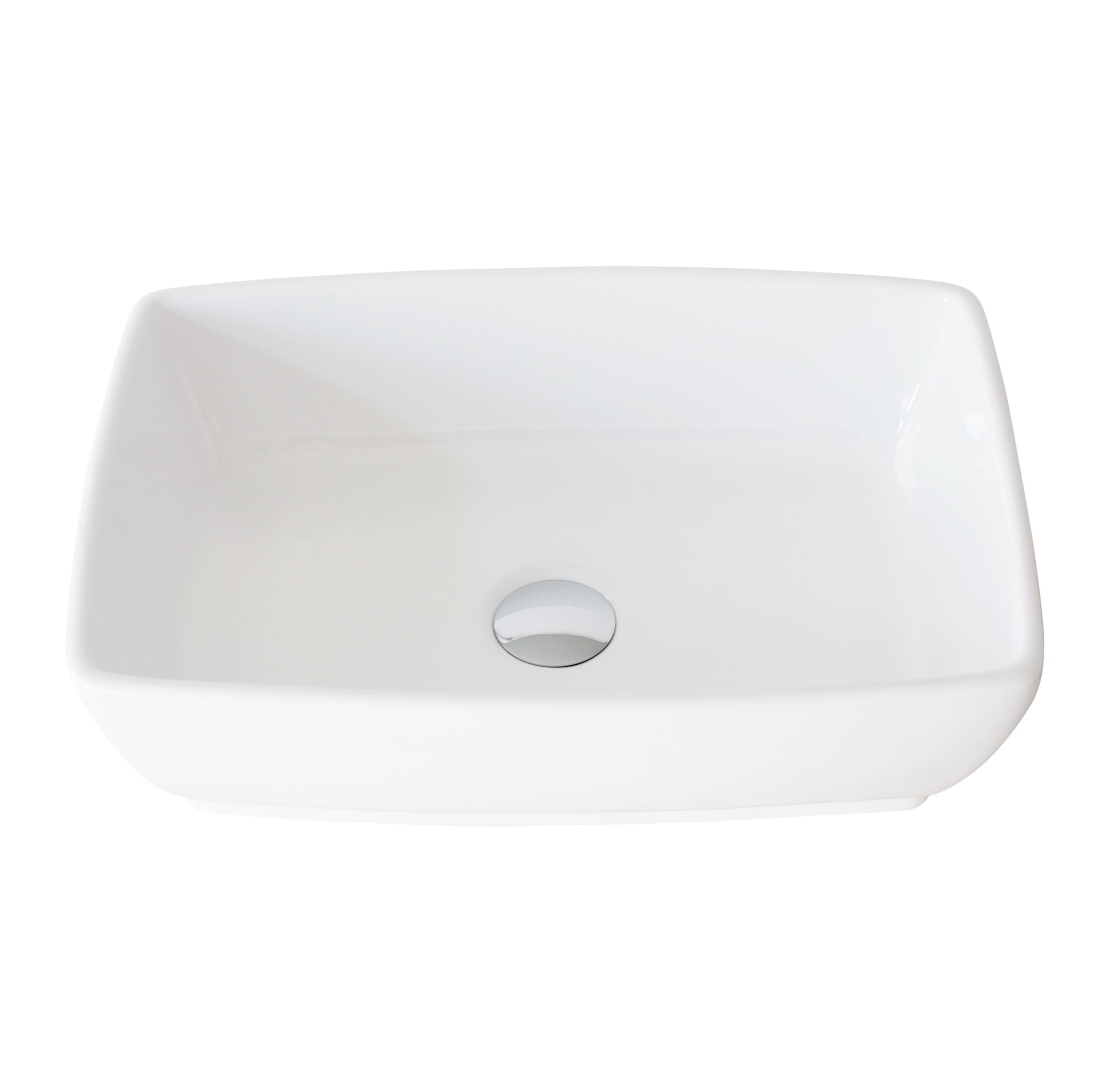 stylish 19 inch white rectangular