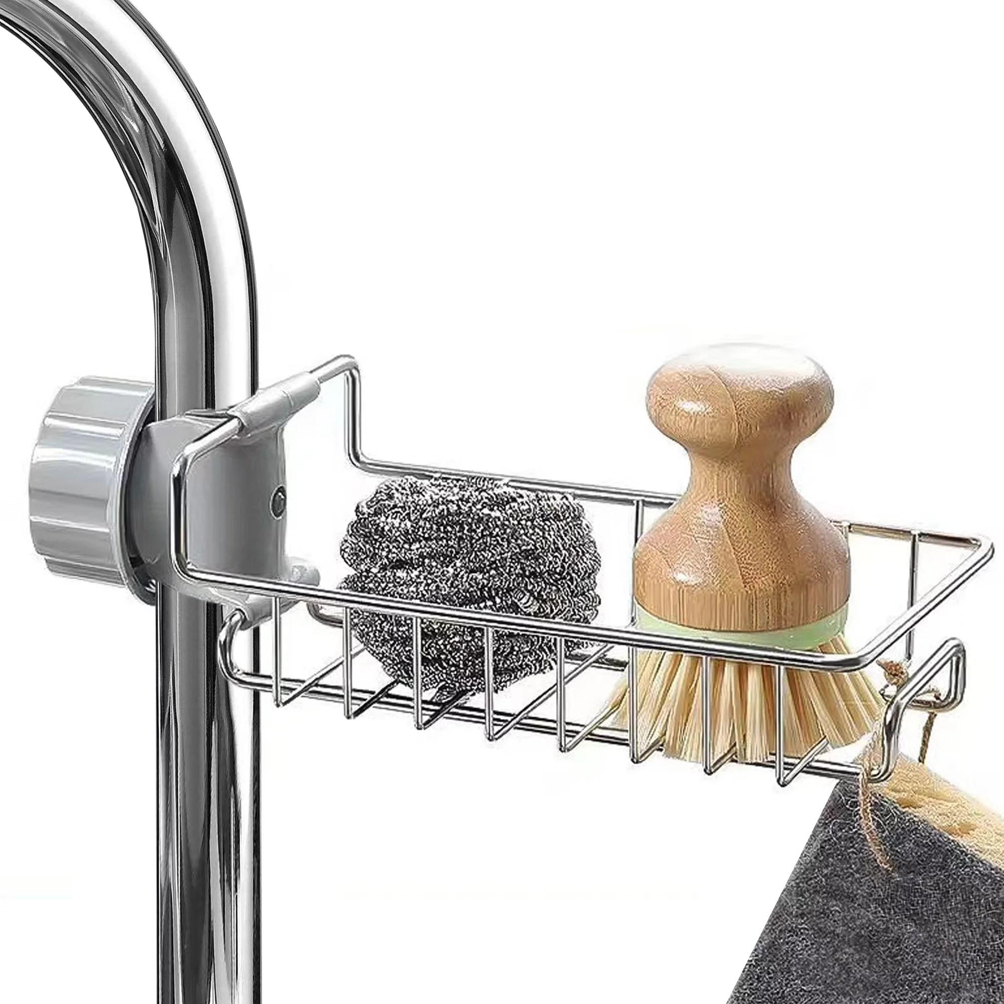 kitchen sponge holder bigroof stainless steel sink holder dish brush sink caddy basket for kitchen sink
