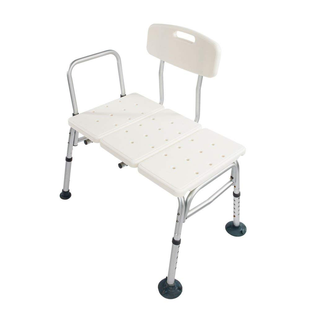 Zimtown Bath Transfer Bench Shower Chair Adjustable Medical 10 Height Bench Bathtub Stool Seat