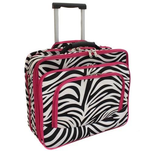 World Traveler Fashion Print Women's Rolling 17-inch Laptop Case