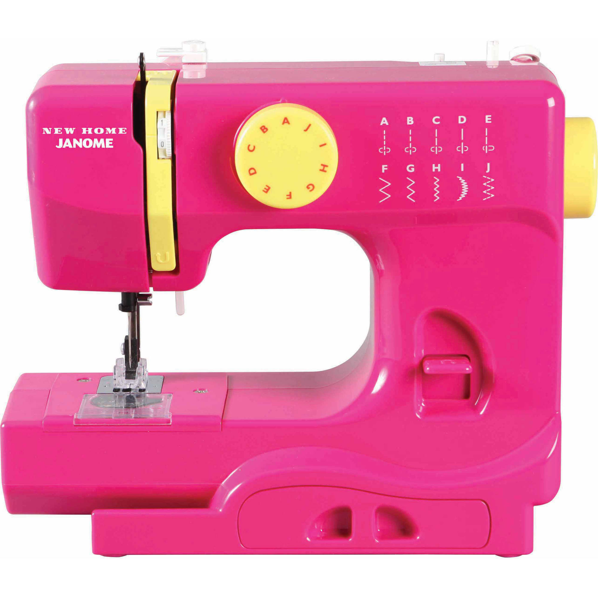 Janome Basic 10 Stitch Portable Sewing Machine With Top Drop In Bobbin Reverse Lever 4 Piece