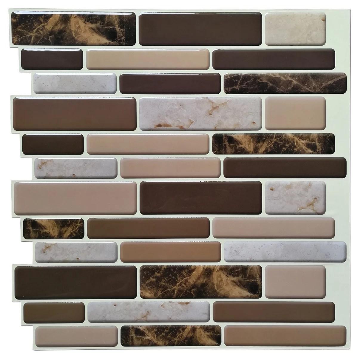10 tiles self adhesive wall tile peel and stick backsplash tile for kitchen 12 x12