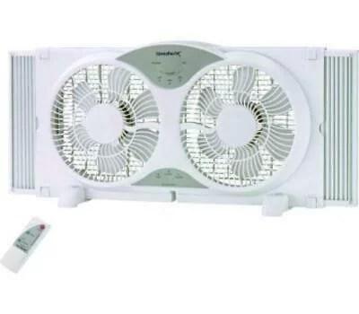 power zone bp2 9a window fan 9 inch reversible white