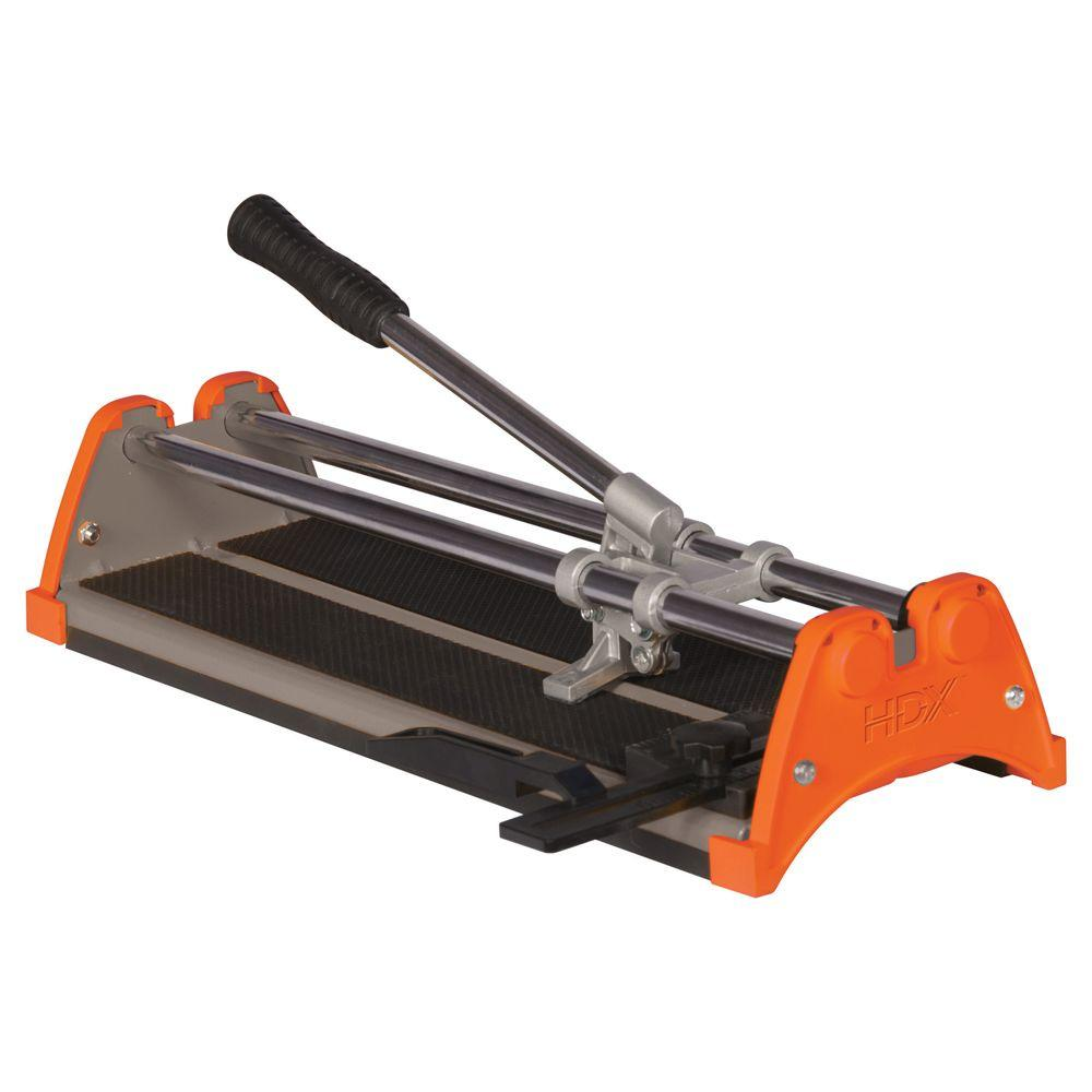 hdx 14 in rip ceramic heavy duty rubber pads high leverage handle tile cutter 10214x