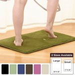 Memory Foam Bathrug 2 Pack Set Sage Green Bath Mat And Shower Rug Large 20 X 32 Inches Non Slip Latex Free Plush Microfiber Comfortable Beautiful And By Clara Clark Usa
