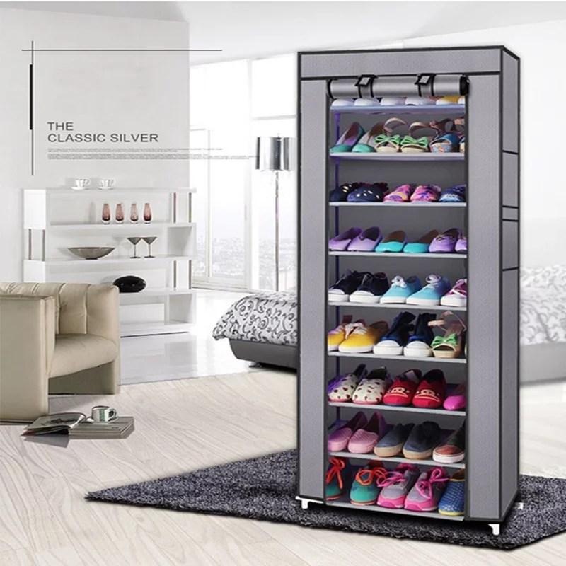 multi layer diy combination dust proof cloth shoe cabinet folding fabric shoes rack organizer simple shoe storage cabinet