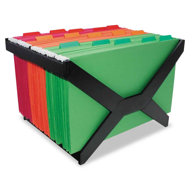 advantus letter legal hanging file rack plastic 16 x 12 x 10 3 4 black walmart com