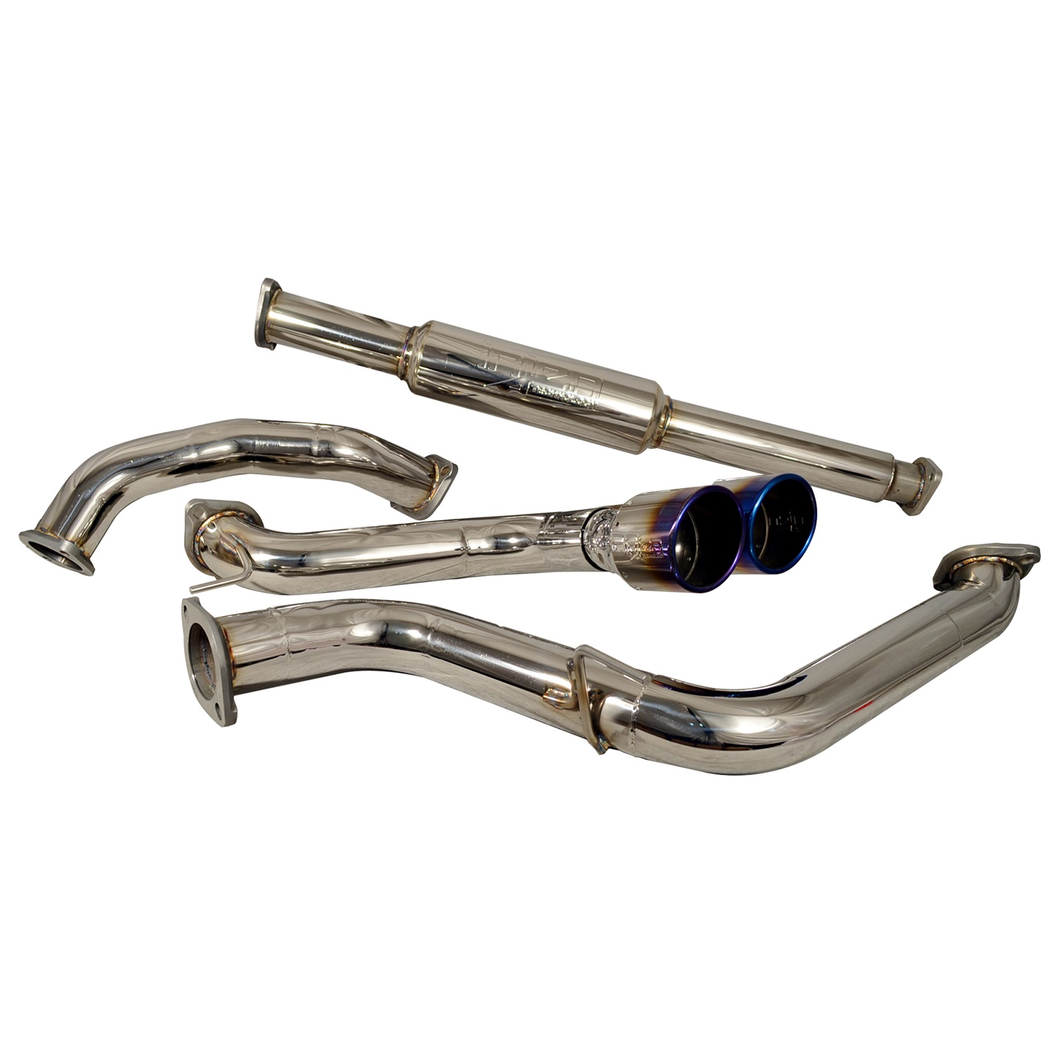 injen 2013 2014 ford focus st 2 0l t 3 00in cat back stainless steel exhaust system w titanium tip