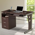 Techni Mobili Computer Desk With Keyboard Tray And Drawers Chocolate Walmart Com Walmart Com