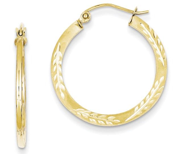 Product Image 10k Yellow Gold 1 5mm Satin D C Hoop Earrings 1in Diameter