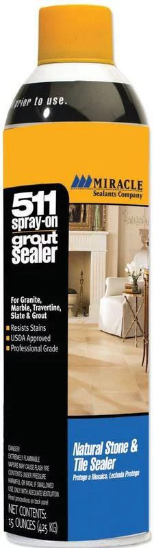 miracle sealants grtslraerocs grout aerosol spray penetrating sealers 15 oz