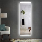 Led Mirror Full Length Mirror Wall Mounted Mirror Vanity Mirror With Lights For Bathroom Bedroom Living Room With Dimming Touch Switch Waterproof Led 64 X 21 Walmart Com Walmart Com
