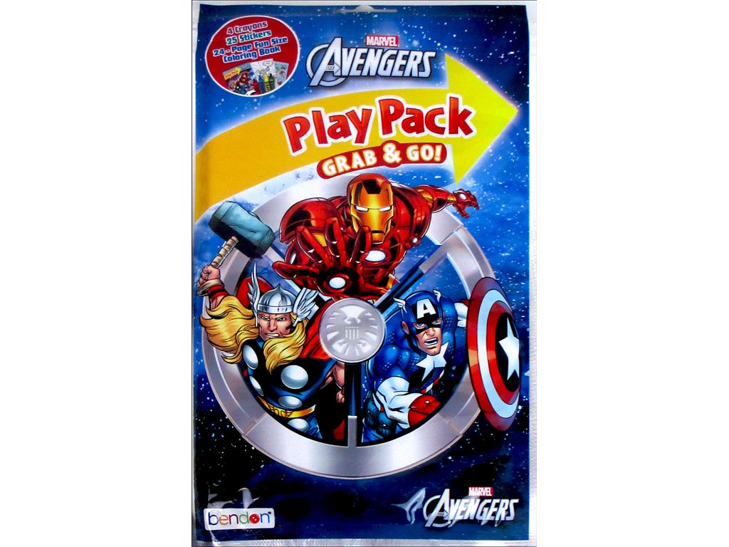 Bendon Coloring Bk Play Pack Avengers