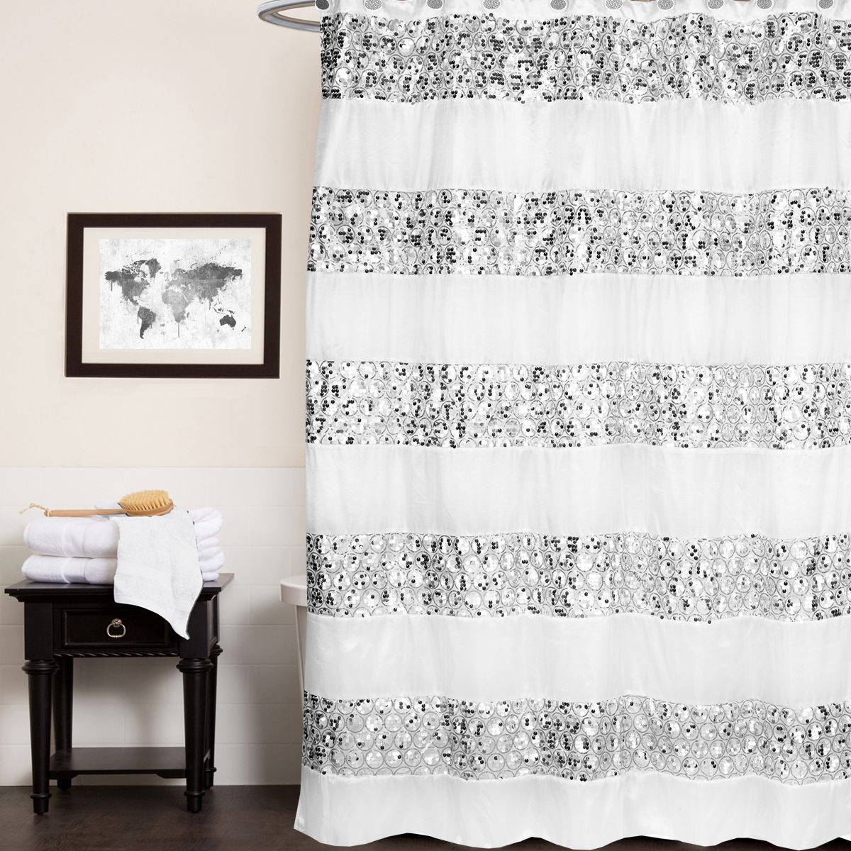 popular bath sinatra white collection 70 x 72 bathroom shower curtain