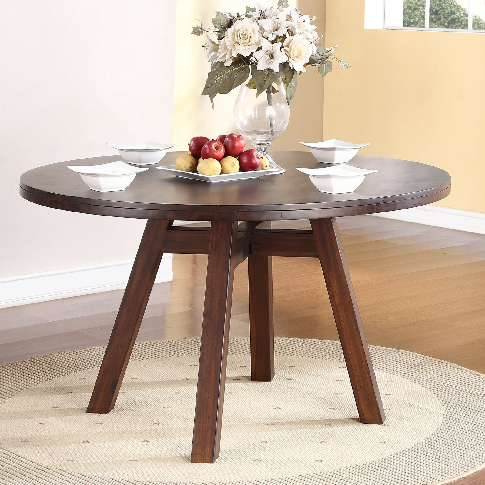modus portland solid wood round dining table medium on solid wood dining table id=87705