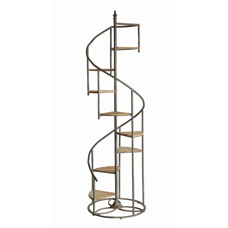 Darby Spiral Staircase Metal And Wood Display Piece Walmart Com Walmart Com