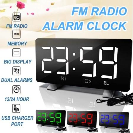 Alarm Clock Wake Up Light Fm Radio
