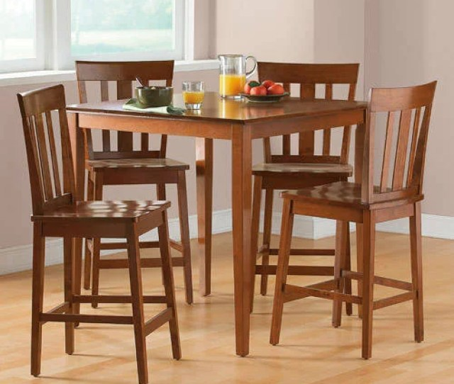Mainstays  Piece Counter Height Dining Set Multiple Colors