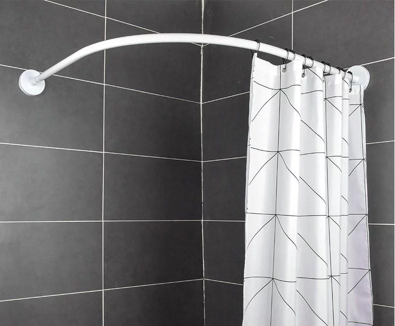 shower curtain rod stainless steel adjustable curved shower curtain rod bathroom bars rail rod