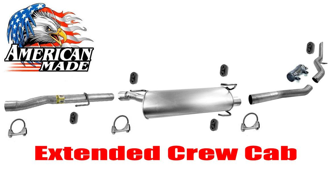 muffler exhaust system for dodge ram 1500 mega cab 5 7l 06 08 extended crew cab