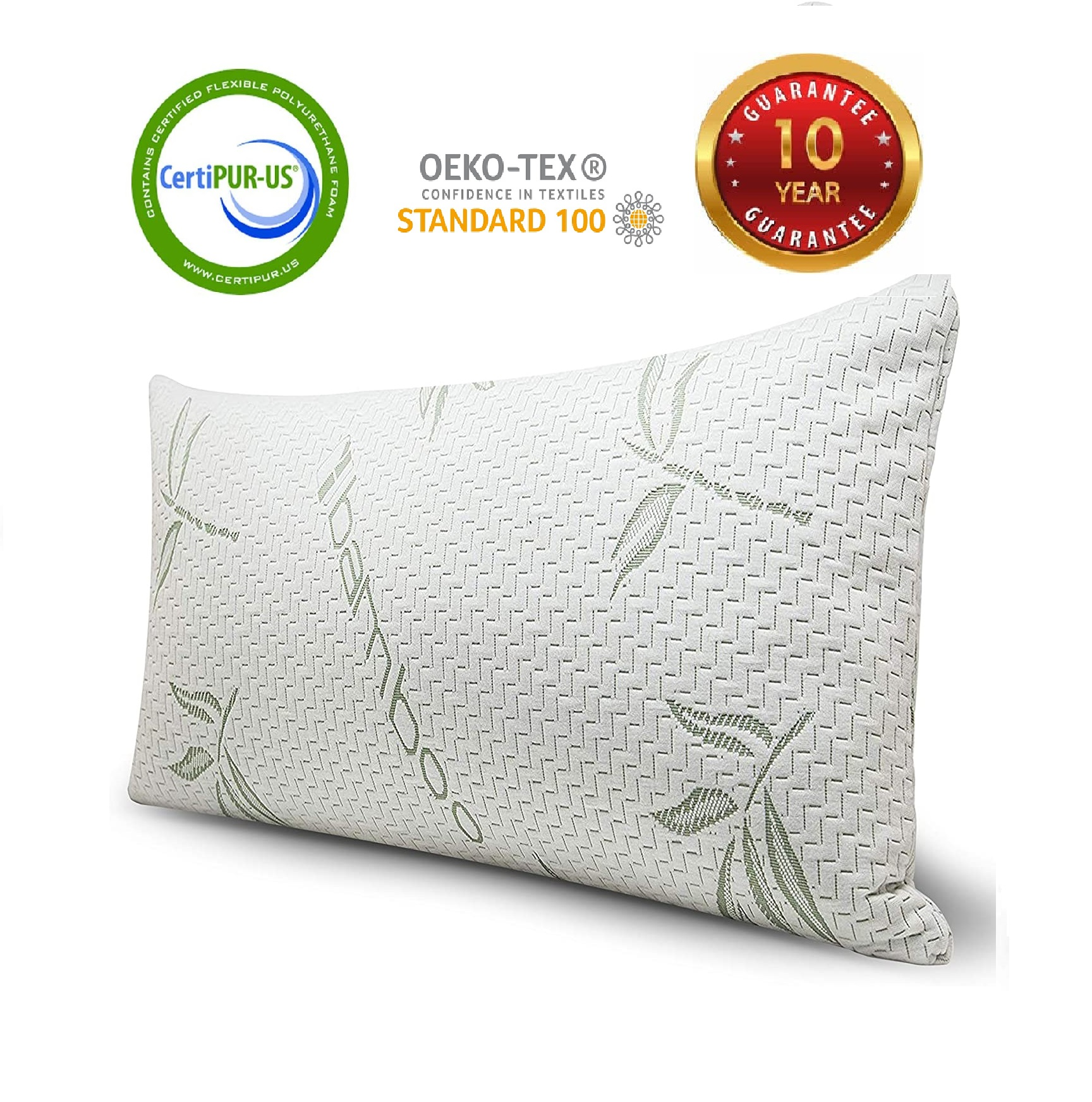 cool home goods queen size bamboo pillow shredded memory foam adjustable pillow with hypoallergenic removable washable bamboo rayon zipper cover 1