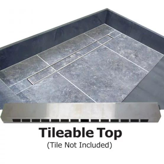 tile redi rt3660l pvc tbn redi trench 36 x 60 rectangular shower base