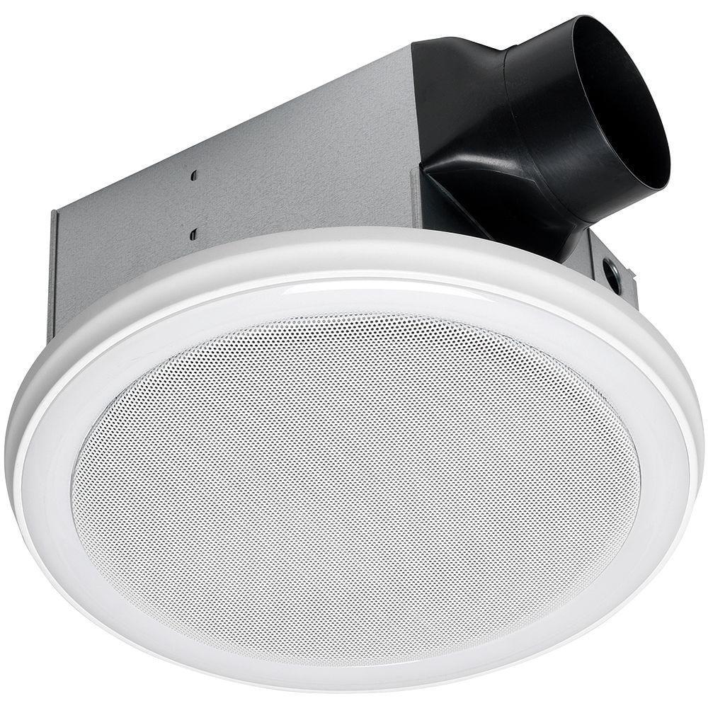 home netwerks white 100 cfm bluetooth stereo speakers bathroom exhaust fan new walmart com