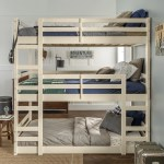 Manor Park Solid Wood Triple Bunk Bed Twin Over Twin White Walmart Com Walmart Com