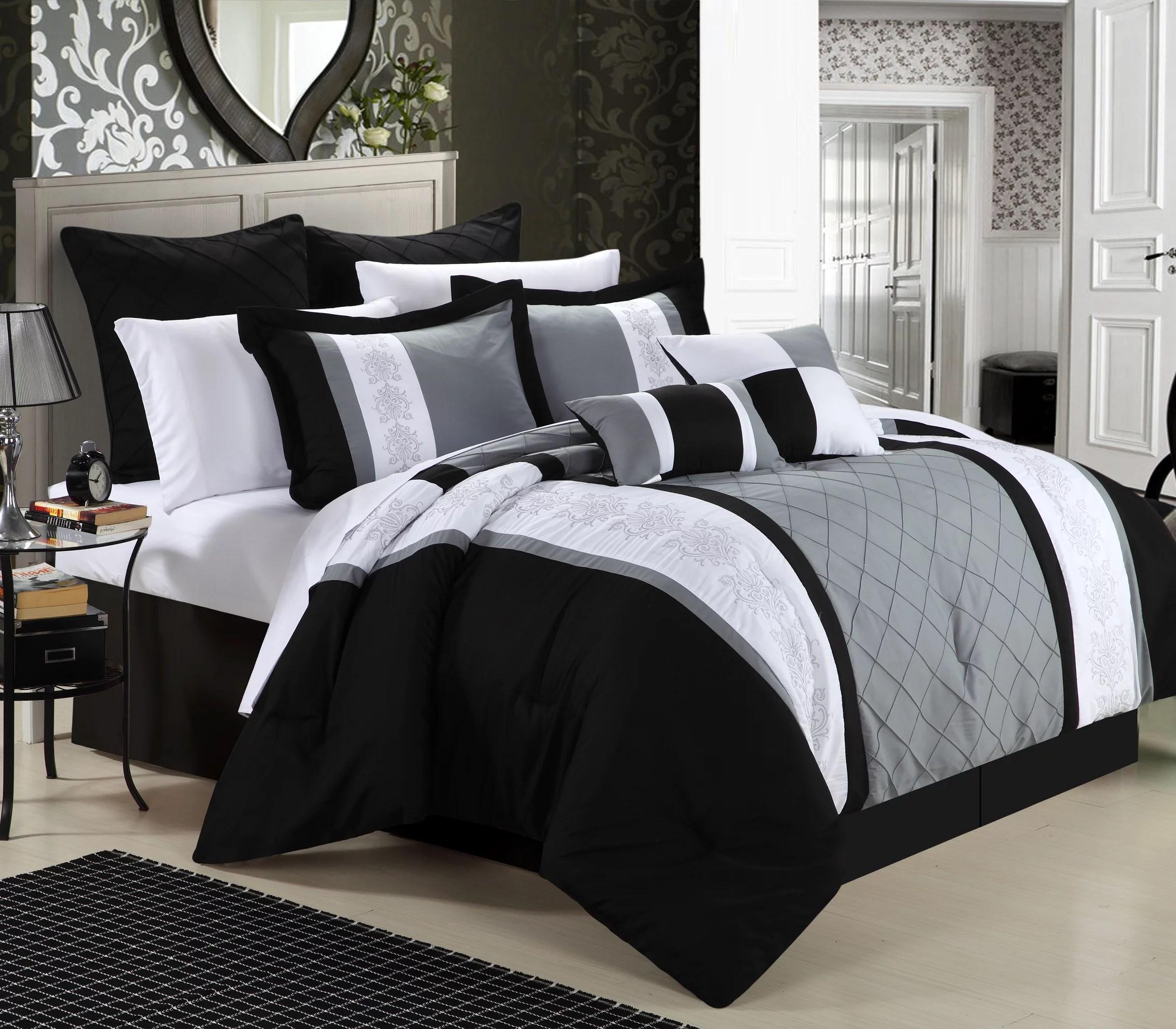 chic home arlington 12 piece bed in a bag comforter set walmart com
