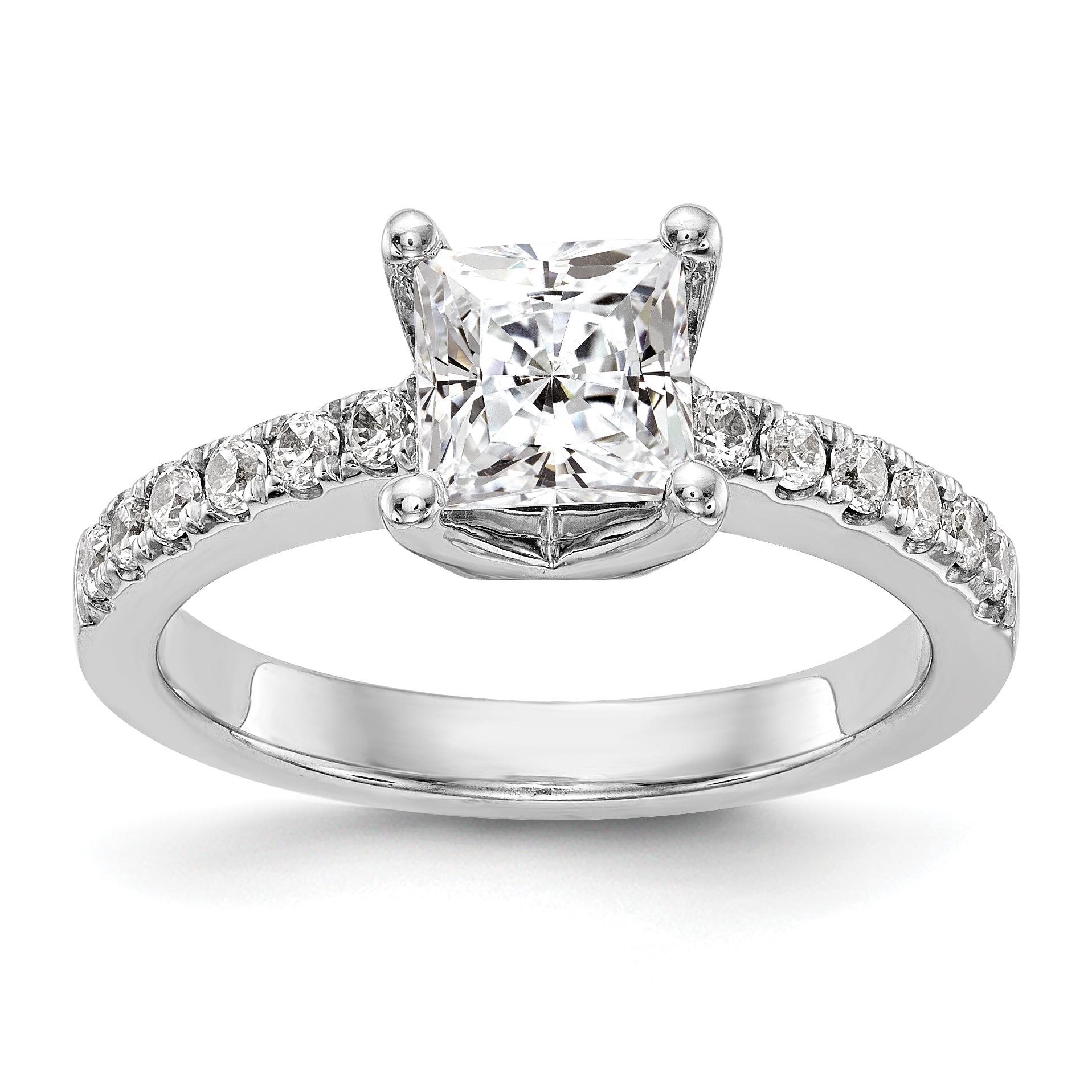 14kt White Gold True Origin Lab Grown Diamond VS/SI, D E F, Semi-Mount Engagement Ring 0.216 Carat, Ring Size 7