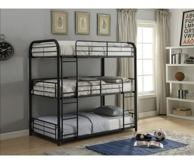 Harriet Bee Eddy Triple Bunk Bed