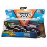 Monster Jam Official Dragon Vs Jester Die Cast Monster Trucks 1 64 Scale 2 Pack Vehicle Playset Walmart Com Walmart Com